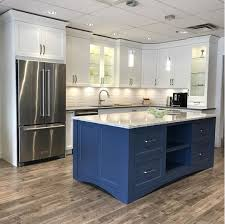 navy blue kitchen island ideas blue cabinet paint colors our kitchen makeover