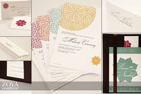 contemporary indian wedding invitations zoya couture indian wedding invitations