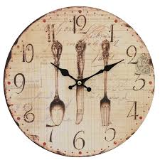 horloge pendule couverts de cuisine