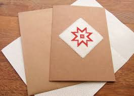 How To Make A Card Envelope - how to make a quick and simple cross stitch christmas card