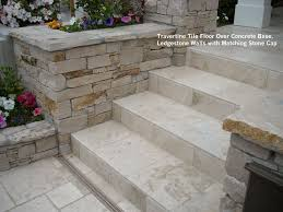 travertine walls travertine tile floor over concrete base ledgestone walls with