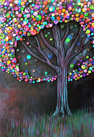 button tree 0006 painting by furlow