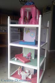 furniture nursery design using pink roof dollhouse bookcase with