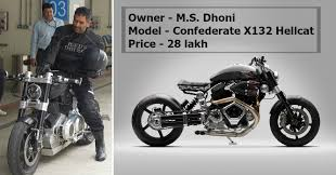 hellcat x132 dhoni 10 unseen pictures of m s dhoni s bikes which you just can t afford