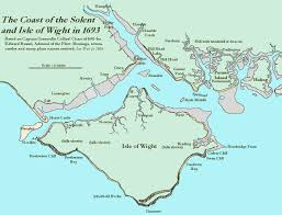 Map Of West Coast Beaulieu River Estuary Solent Part Of Geology Of The Wessex