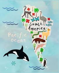 Map Of Sounth America by Animal Cartoon Map Of South America Royalty Free Cliparts Vectors