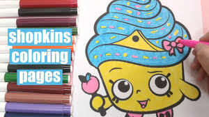 shopkins coloring pages how to color shopkins cupcake queen