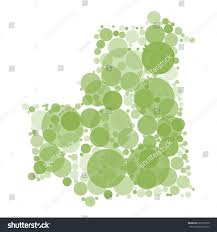 shades of color vector map mauritania filled circles different stock vector