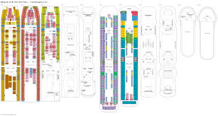 carnival cruise ship floor plans rhapsody of the seas deck 7 deck plan tour