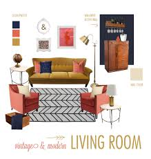 style board challenge vintage and modern living room
