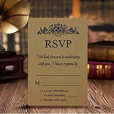Wedding Invitations With Rsvp Amazon Com Doris Home Wedding Invitations Wedding Invites