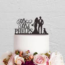 black wedding cake toppers personalized date last name acrylic mr mrs cake topper wedding