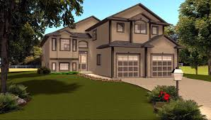 house plan 2011543 corner lot modified bi level by edesignsplans