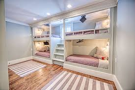 Four Bunk Bed Built In Bunk Bed Design And Installation Toulmin Cabinetry Design