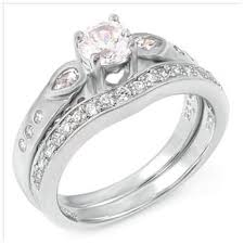 Teardrop Wedding Ring by Sterling Silver Wedding Ring Sets In Simulated Diamond Cz U2013 Blades