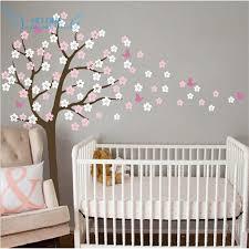 stickers papillon chambre bebe arbre énorme soufflage cherry blossom stickers muraux pépinière