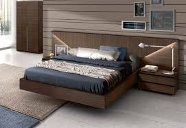 contemporary bedroom with white king platform full bed frame
