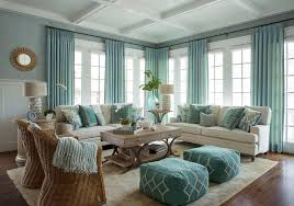 Blue Living Room Ideas - Beach style decorating living room