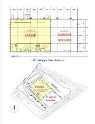 Industrial Floor Plan 32 000 Sf Of Industrial Property For Lease U2013 2511 Midpark Dr