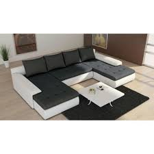 méridienne canapé canapé d angle en u joyu meridienne 6 places noir et blanc