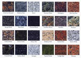 granite countertop color best for 2017 also types of countertops