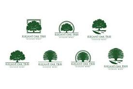 green oak tree logo vol 1 logo templates creative market