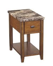 City Liquidators Portland Oregon by Ashley Faux Marble Top Half Side Tablet007 158 Home Furniture