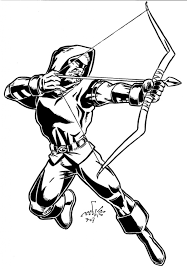 amazing addition interesting green arrow coloring pages