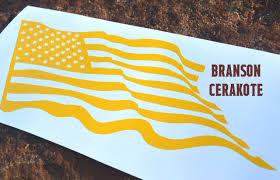 Waving American Flag Waving American Flag Pistol Stencil Branson Cerakote Llc