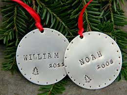 christmas ornaments for grandkids children personalized