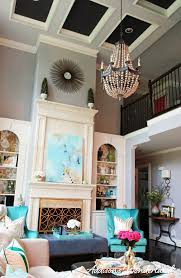 Dream Living Rooms - my dream living room wood bead chandelier light gray walls and