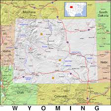 Map Of Wyoming And Colorado by Wy Wyoming Public Domain Maps By Pat The Free Open Source