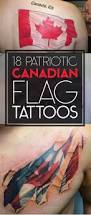 Black Flag Tattoos 18 Patriotic Canadian Flag Tattoos Tattooblend