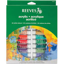 reeves assorted colors acrylic paint set 24pk walmart com