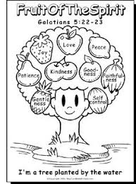 cute fruits spirit bible coloring pages kids