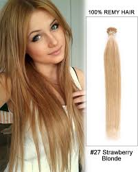 keratin hair extensions 27 strawberry stick tip i tip 100 remy hair