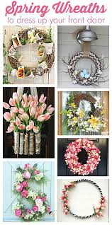 spring wreaths for front door decoart blog trends spring wreaths to dress up your front door