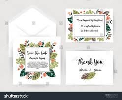 wedding invitation flower card templatesset invitations stock
