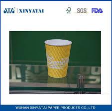 bicchieri di carta personalizzati personalizzati isolati ripple muro monouso bicchieri di carta per