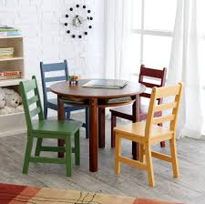 Armless Chairs Furniture Astounding Wooden Kids Round Table With Storage And 4