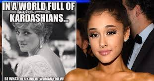 Meme To - ariana grande uses kardashian and princess diana meme to highlight