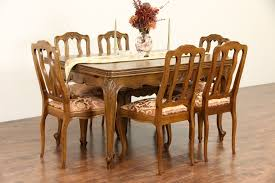 Country French Dining Room Tables Sold Country French Carved Oak 1940 U0027s Dining Set Table 2 Leaves