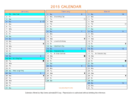 72 free calendars templates 2015 powerpoint background