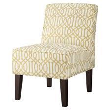bedroom chairs target threshold slipper chair yellow white trellis apartment living