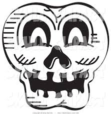 clipart of halloween royalty free stock skull designs of outlines