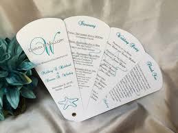 petal fan wedding programs starfish delight petal fan wedding program the wedding sophisticate