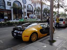 gold and black bugatti custom yellow u0026 black bugatti veyron spotted in beverly hills