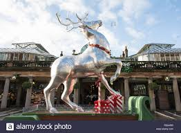 a reindeer artwork outside the covent garden market in