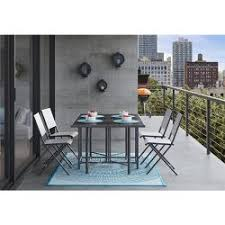 patio dining table set 7pc metal folding patio dining set turquoise threshold target