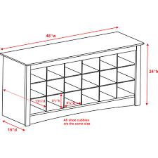 prepac furniture shoe storage cubbie bench walmart com
